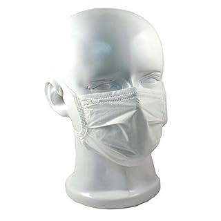 OP-Mundschutz mit Gummizug 50er Pack verschiedene Farben (weiß)