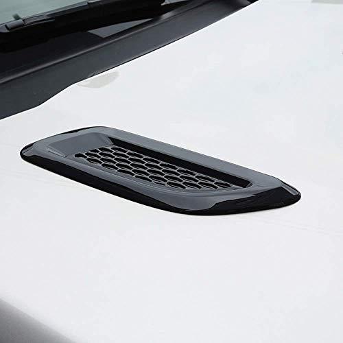 Couvercle de Sortie d'air en Plastique ABS avec Cache de Sortie d'air pour Discovery 4 Freelander 2 RR Evoque, Noir Brillant
