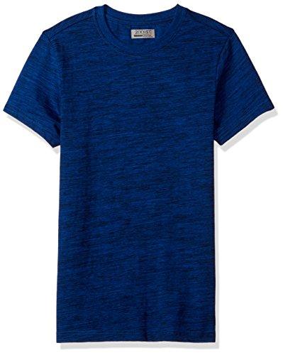 2(x)ist) ist Spacedye Herren T-Shirt mit Rundhalsausschnitt - Blau - Klein - Crewneck Heather Jersey T-shirt