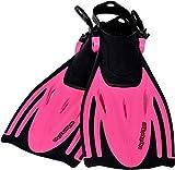 AQUAZON Alicante Verstellbare Flossen, Schnorchelflossen, Taucherflossen, Schwimmflossen für Kinder, Jugendliche zum Schnorcheln, Schwimmen, Size:32/37, Colour:pink