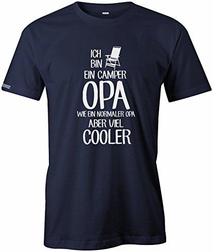 Ich bin ein Camper Opa - Wie ein normaler Opa aber viel cooler - Herren T-SHIRT by Jayess Navy