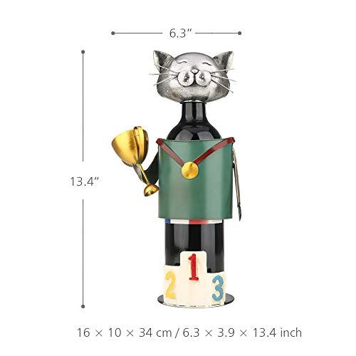 LIAOLEI10 Weinregal Champion Cat Weinhalter Vintage Pickup Cat Weinflaschenhalter Statue oder dekoratives Weinregal -