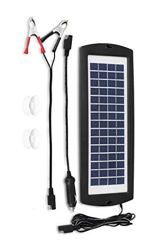 MoPower2U Solarladegerät, Batteriestandhalter, 12 V, Solarstromgenerator, Batterie-Tender für Auto, LKW, Motorrad, Wohnmobil, Wohnmobil, Boot, ATV, Traktor, Rasenmäher, Batterien -