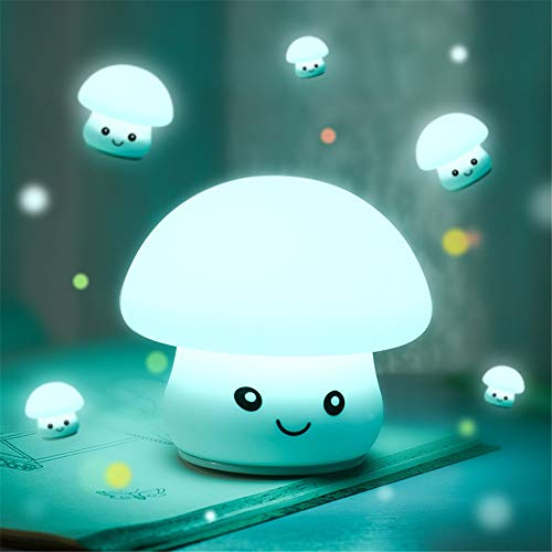 Tipo de fuente de luz luz led  material de pantalla de silicona  tamaño exterior 125 * 116 (mm)  tipo de interruptor inductivo  estilo de dibujos animados  modo de alimentación fuente de alimentación USB  color claro lindo hongo de junio, lindo hongo...