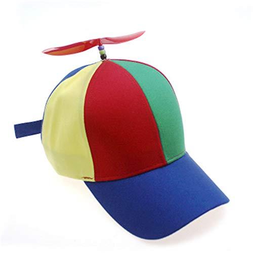 SELY SELYSonnenschutz farblich passenden Baseball Cap Männer und Frauen abnehmbare Windmühle Propeller Kinder Hut -
