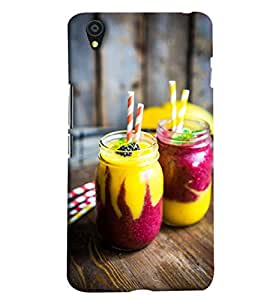 Blue Throat Shake In Fancy Glass Hard Plastic Printed Back Cover/Case For OnePlus X