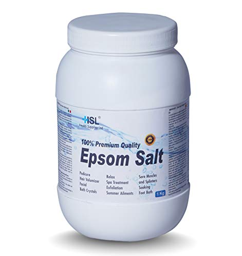 HSL Bittersalz 1kg (Magnesium Sulfat Salz) Bad Salz