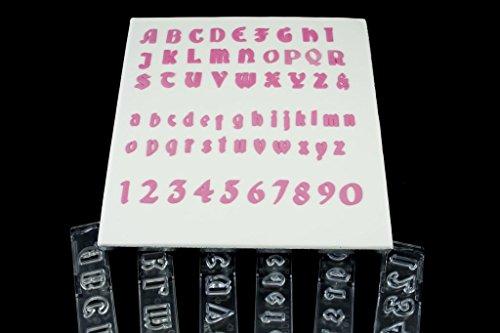 Windsor Clikstix-Set, Buchstaben, Zahlen, Gothic-Stil