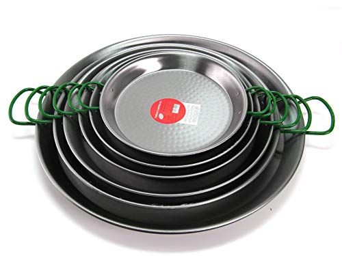 VAELLO Paellera Ferro martellato cm60 Pentole e Preparazione Cucina, Acciaio Inossidabile, Argento, 60 cm