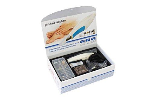 Promed Emotion elektrische Nagelfeile, elektrisches Maniküre-/Pediküre-Set, LED Licht, Nagelfräse...