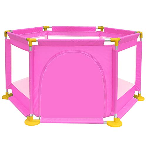 Playpens - Protable Baby Toddler Safety Play Center Yard, Big Feet Anti-rollover Children's Game Fence (color : PINK)  BSNOWF