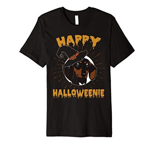 Happy Halloweenie T-Shirt Funny Wiener Dackel Hund Geschenke