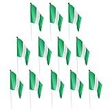 Baoblaze 12pcs Banderas de Mano que Agitan Hechas de Poliéster de Alta Calidad - Nigeria