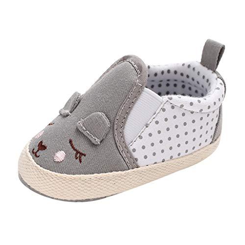 Mitlfuny Niños Zapatos de Primeros Pasos Primavera Verano Lindos Princesa Zapato para bebé Niñas Dibujos Animados Conejo Lunares Cuna Zapatitos Antideslizantes Suela Suave Zapatillas Niña 0-18 Meses
