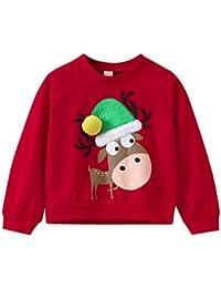 K-youth Sudadera para Niñas Niños Ropa Recién Nacidos Bebé Niño Navidad Elk Sudadera Niños Sweat Shirt Ropa Bebe Niña Otoño Invierno Blusas Bebe Niño Tops