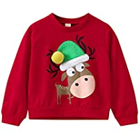b9101d8701d5d BaZhaHei Sweat-Shirt de Noël Bébé Fille Garçon Col Rond Gant de Sapin de  Noël