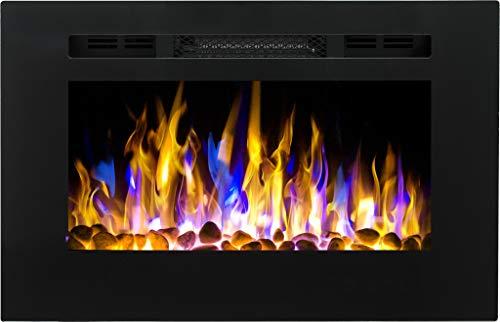 Chimenea eléctrica Majestic 26, (750 W o 1500 W), simulación de fuego...