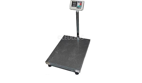 Bilancia Digitale Bilancia a Piattaforma Da Pavimento Elettronica 1000 Kg LCD