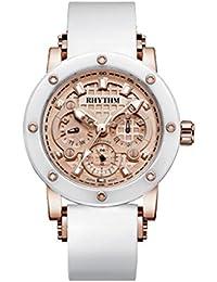 Rhythm (Japan) Stainless Steel Sapphire Glass (Scratch Resistant) Ceramic 10 ATM Wrist Watch Case Size Ø40X12.1mm
