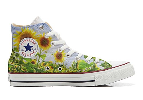Converse All Star Chaussures Coutume Mixte Adulte (Produit Artisanal personnalisé) Girasole