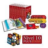 NIVEL 10 PLUS (+ 8 LIBROS + 2 ESTUCHES MULTIMEDIA + 10 DVD + 12 CD ROM + TARJETA DE RECURSO EN LINEA.).