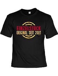 zum 16. Geburtstag Geburtsjahr Herren T-Shirt EINZELSTÜCK ORIGINAL seit 2001 Geburtstagsgeschenk Geschenke Idee 16 Geb für Ihn mit Jahrgang 2001 : )