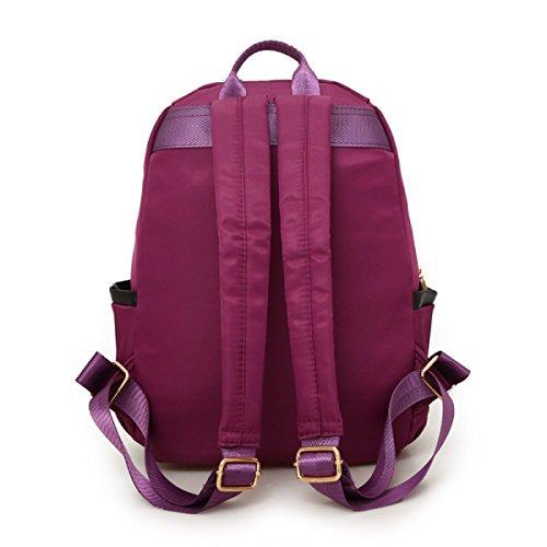 LAIDAYE Beiläufige Rindlederrucksackart Und Weise Reisende Beuteldamen Schulterbeutelhandtaschen Purple