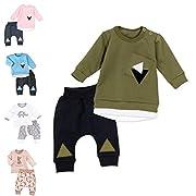 Baby Sweets Set Shirt Hose Unisex grün schwarz   Motiv: Triangle   Baby Outfit 2 Teile für Neugeborene & Kleinkinder   Größe: Newborn (56)...