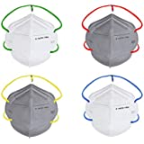 Nasher Miles N95 5 layer Color Face Mask, Reusable and Washable, Head Strapped, SITRA/CE/ISO Approved, Anti Pollution, Anti-Dust (Pack of 4) N95 Mask