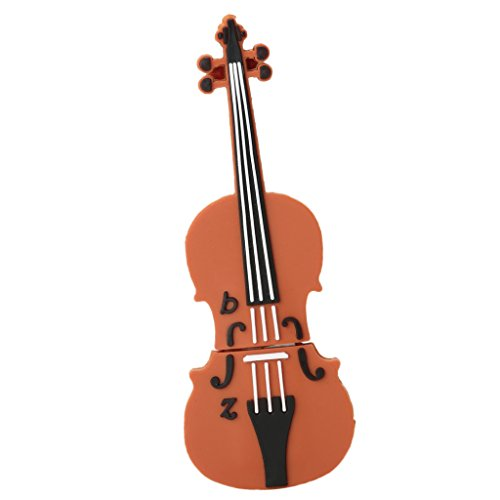 Sharplace flash drive usb 2.0 pendrive per salva dati forma di violino in gomma simpatico - 64 gb