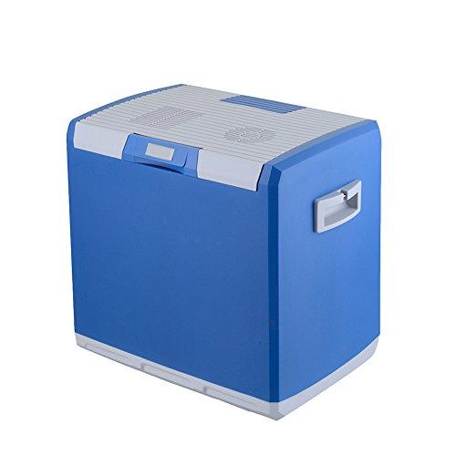 Liqicai 30l frigorifero piccolo frigo da campeggio lunch box12v dc (auto)/24 v cc (camion)/230 v ac (casa), carry strap portatile (colore : blu, dimensioni : for car+home)