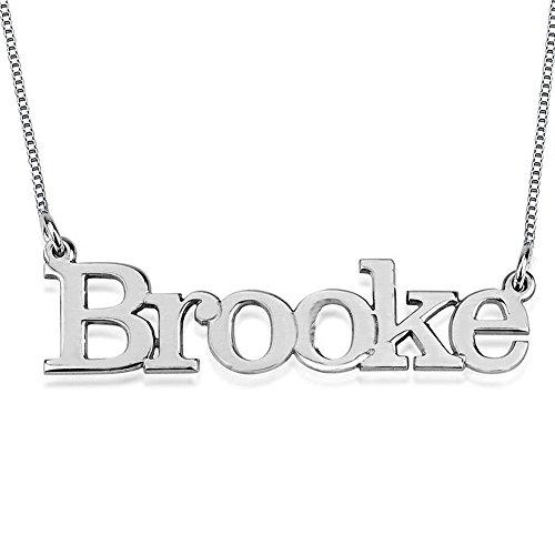 FUJIN 925 Sterling Silber Name Halskette Custom Made mit einem Namen (Schmuck Benutzerdefinierte Großhandel Kostüme)