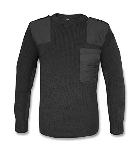 BW Bundeswehr Pullover Top Qualität in schwarz Ideal für Bundeswehr, Security, Outdoor, Jagd und Freizeit (XL) - Pullover Tactical Schwarz