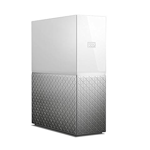 WD My Cloud Home 2 TB Cloudspeicher 1-Bay weiß von Western Digital. Network Attached Storage – NAS. WLAN und USB 3.0. Zum zentralen Speichern und Sichern von Daten, Backup und Videostreaming. WDBVXC0020HWT-EESN