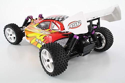 RC Buggy kaufen Buggy Bild 1: HSP Buggy XSTR Rot 1:10 4WD RTR 94107/10704 | Fahrfertiges 1:10 Offroad RC-Car | 2.4 Ghz Sender | Ladegerät mit 0,8A Ladestrom | Fahrakku | Fahrtregler 45A | Allradantrieb | Länge ca. 370mm | Breite ca. 245mm | Höhe ca. 130mm | Radstand ca. 275mm*