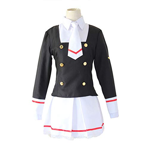 College Party Kostüm Für Halloween - DXYQT Anime Cosplay Kostüm College Kleidung Kurzen Rock Halloween Kostüm Thema Party Performance Kostüm Spiel Uniform Student Bühnenkostüm,Black-S
