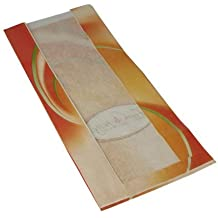 Orange//Wei/ß Kraftpapier//Folie Wertpack 1000x Sichtstreifenbeutel /¿mmmhh/¿ 20+8x42 cm