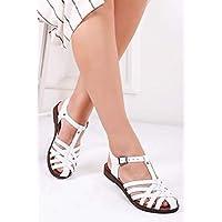 TARÇIN Hakiki Deri Günlük Kadın Sandalet Ayakkabı TRC70-0067