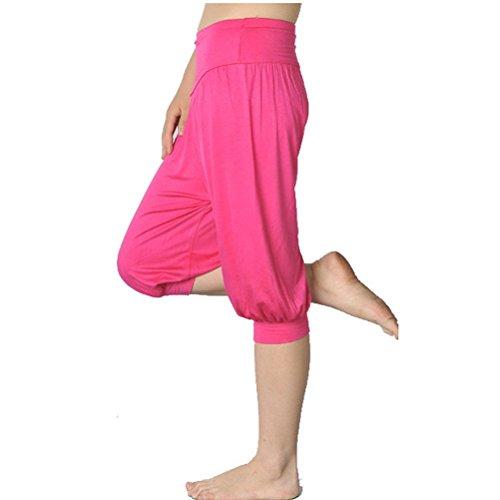 Nanxson(TM) Femmes Saroule/Pantalon Bouffant Court Large Pour Sport Fitness Yoga Multi-couleurs YDKW0011 Rose