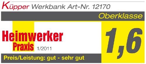 Küpper 12177–Werkbank, hergestellt in Deutschland, 170x 60x 84cm - 2