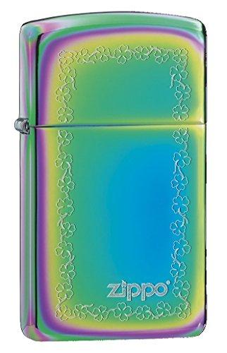 Zippo Clover Scroll - Mechero, Color Spectrum Slim