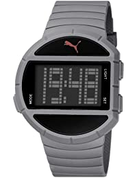 Puma Time  Half Time- L Grey - Reloj de cuarzo para hombre, con correa de plástico, color gris