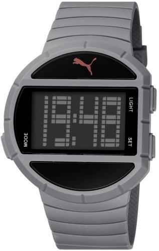 Puma - PU910891002 - Half Time - L - Montre Homme - Quartz Digital - Cadran Multicolore - Bracelet Plastique Gris