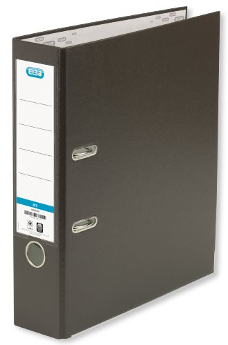 ELBA Ordner smart Pro 10er Pack 8 cm breit DIN A4 braun mit Einsteckrückenschild Ringordner Aktenordner Briefordner Büroordner Plastikordner Schlitzordner