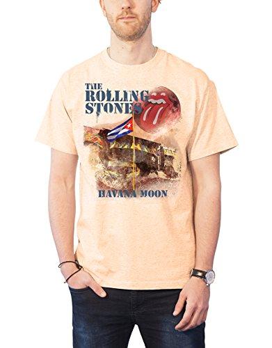 Rolling Stones The T Shirt Havana Moon Band Logo Official Mens Vegas Gold