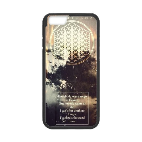 "iPhone 6 (4,7 ""), Apple iPhone 6/iPhone 6S Housse Case Coque de protection Case - Bring Me The Horizon bmth TPU Étui Coque de Protection pour iPhone 6 6S (Blanc/Noir)"