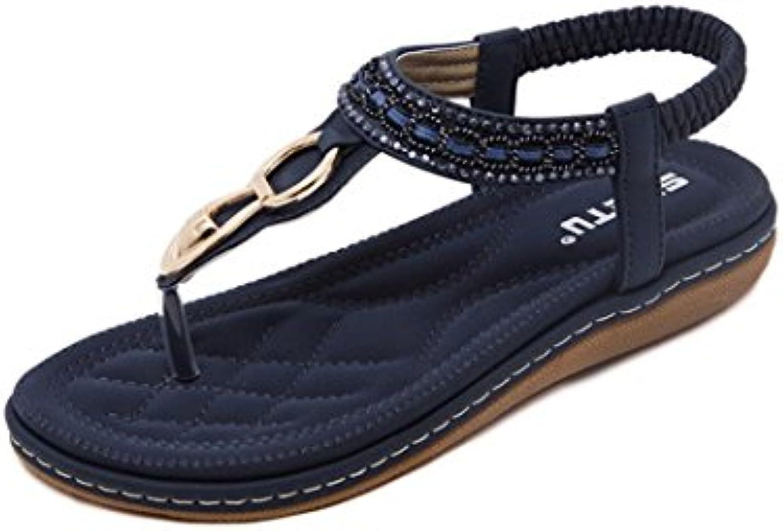 jamicy à tongs sandales à jamicy strass, des sandales mesdames été occasionnels bohème de chaussures plates. c0c422