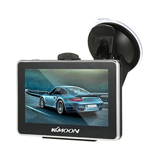 KKmoon Auto GPS Navigation 4,3 Zoll Tragbare 128 Mt 8 GB FM Video Player Auto Navigator mit Zurück Unterstützung mit Freie Karte HD Touchscreen - Auto-navigator