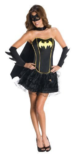 Ladies Batgirl Superwoman Wonder Woman Robin Super Hero Corset Tutu Fancy Dress Costume Outfit (UK 8-10, Batgirl) by (Erwachsene Für Outfit Superwoman)