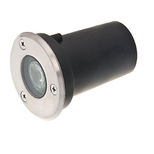 Grg® 1W led Spot Lumière naturel 4000 K Blanc froid encastrable pour segnapasso sol et extérieur IP65 Étanche de classe énergétique A.